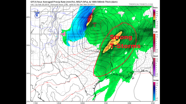 Wednesday AM Blog:  Warming up and thunderstorms