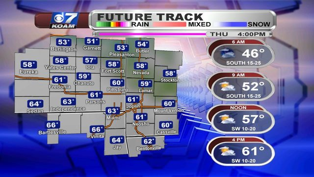 Thursday AM Blog:  Happy V-Day! Mild and windy but changes working in.