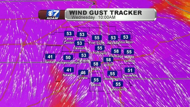 Wednesday AM Blog:  More thunderstorms and crazy winds