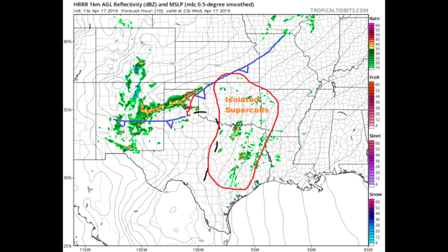 Wednesday late morning Blog:  Severe thunderstorms during the evening
