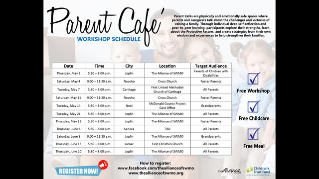 The Alliance of SWMO hosts free Parent Cafe