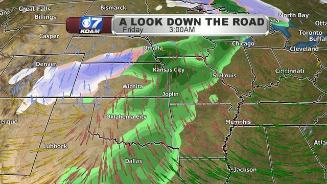 Wednesday afternoon blog:  Warming up but it gets active down the road