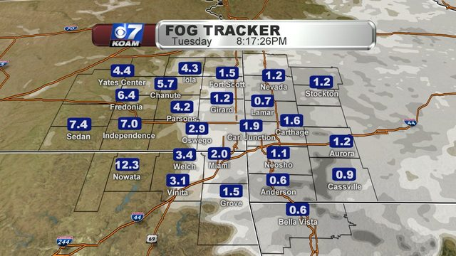 Tuesday Night Blog:  Another cold foggy night, but a lot of changes.