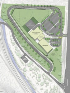 Photo of what the school on Dover Hill would look like from above