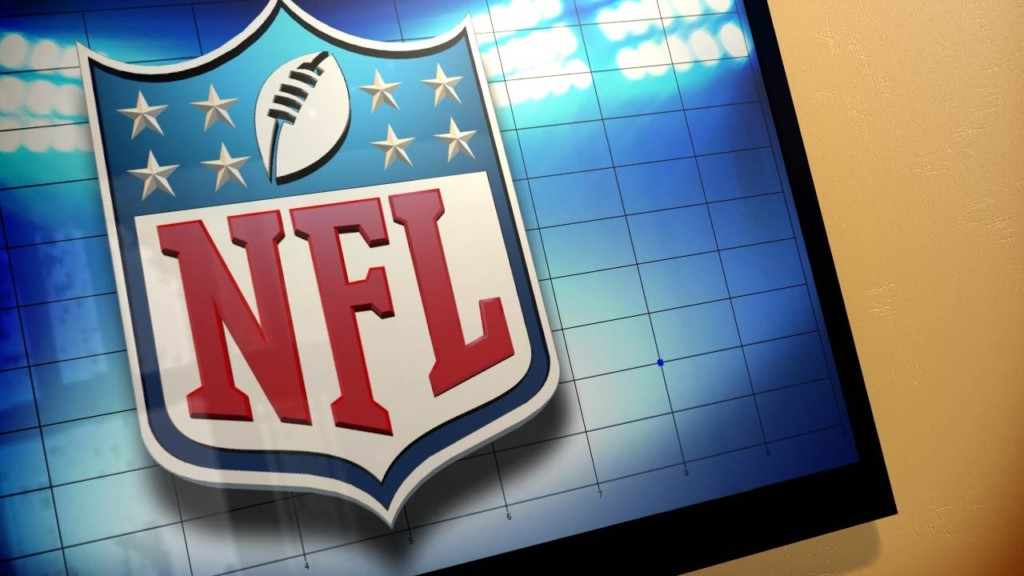 NFL logo on TV, MGN Image