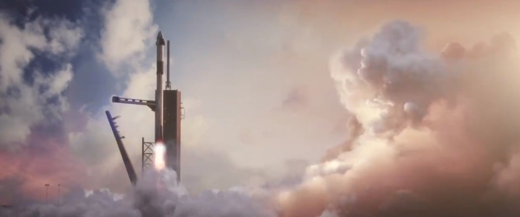 simulation video from SpaceX