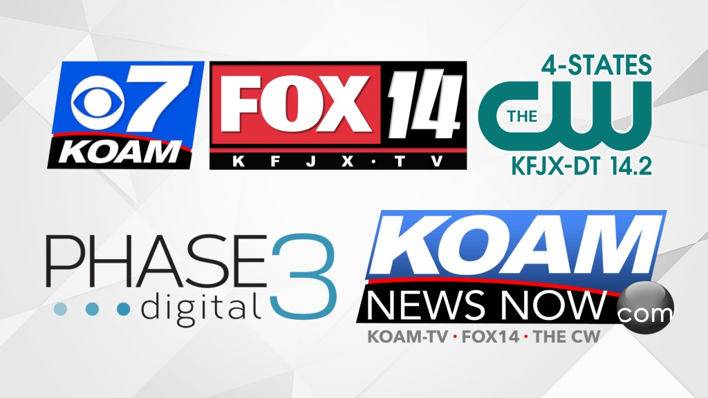 KOAM, FOX14, Phase 3 Digital, 4-States CW logos
