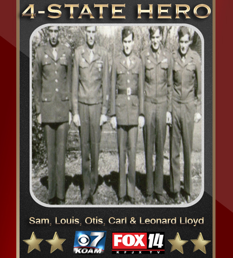 (L-R) Sam, Louis, Otis, Carl, And Leonard Lloyd