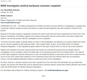 Dhss Marijuana Investigation Press Release